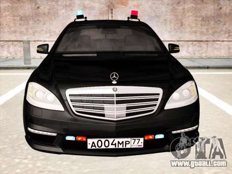 Mercedes-Benz S65 AMG 2012 for GTA San Andreas left view