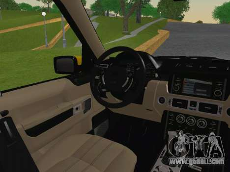 Range Rover Supercharged Series III for GTA San Andreas bottom view