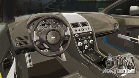 Aston Martin V12 Vantage S 2013 [Updated] for GTA 4 inner view