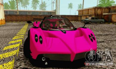 Pagani Zonda Type R Pink for GTA San Andreas left view
