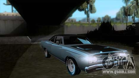 Plymouth Road RunneR 1969 for GTA San Andreas back view