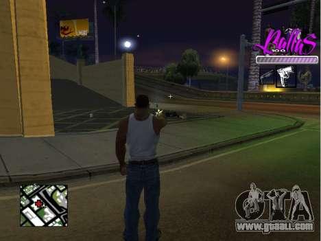 New HUD Ballas Style for GTA San Andreas