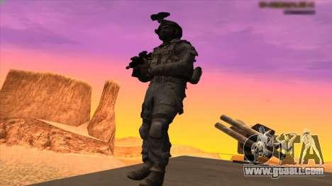 Sgt Keegan P.Russ из Call Of Duty: Ghosts for GTA San Andreas fifth screenshot