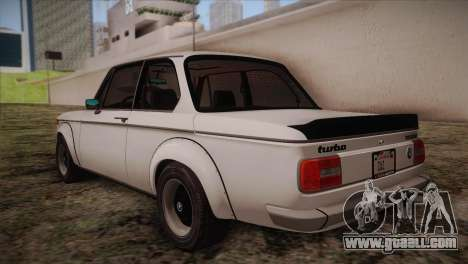 BMW 2002 1973 for GTA San Andreas back left view