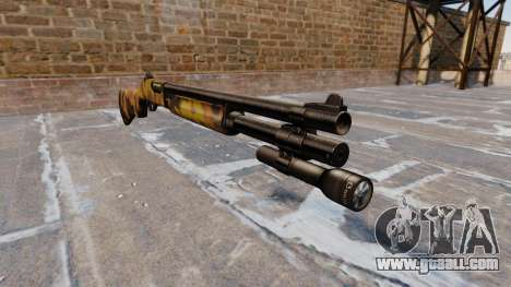 Riot shotgun Remington 870 Fall Camos for GTA 4
