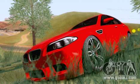 BMW F10 M5 2012 Stock for GTA San Andreas back left view