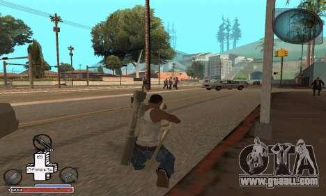Beautiful C-HUD for GTA San Andreas third screenshot