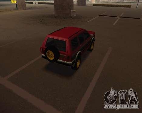 Landstalker V2 for GTA San Andreas back left view