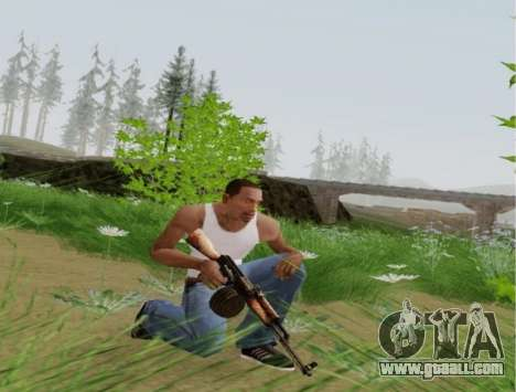 Kalashnikov Light Machine Gun for GTA San Andreas forth screenshot