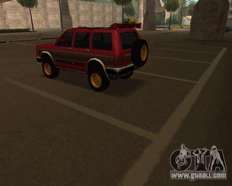 Landstalker V2 for GTA San Andreas upper view
