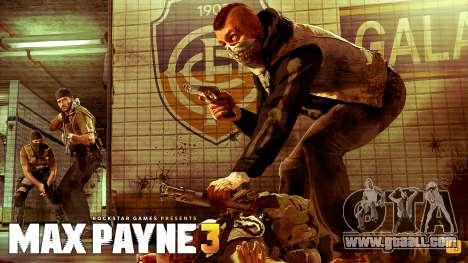 Boot screens Max Payne 3 HD for GTA San Andreas second screenshot