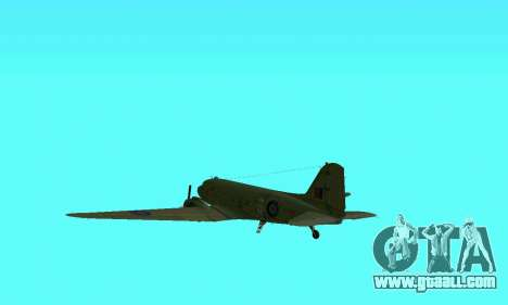 C-47 Dakota RAF for GTA San Andreas side view