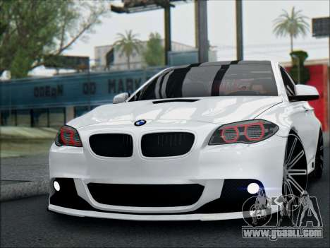 BMW 550 F10 VOSSEN for GTA San Andreas right view