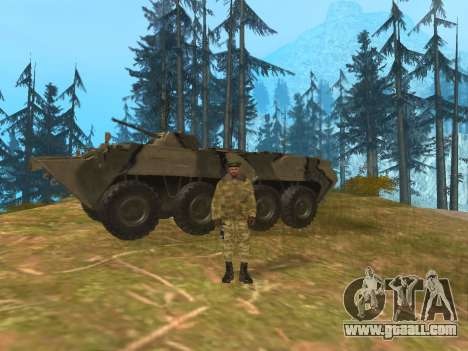 Pak Russian army service for GTA San Andreas