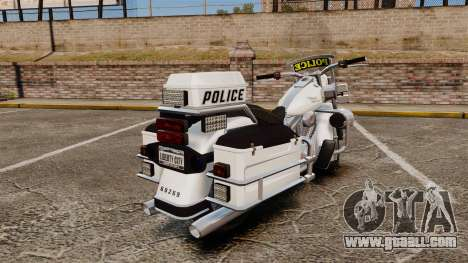 GTA V Western Motorcycle Police Bike for GTA 4 right view