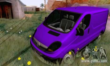 Opel Vivaro for GTA San Andreas left view