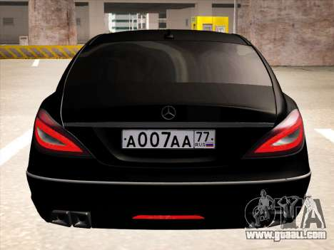 Mercedes-Benz CLS350 2012 for GTA San Andreas inner view