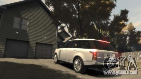 Range Rover Vogue 2014 for GTA 4 upper view