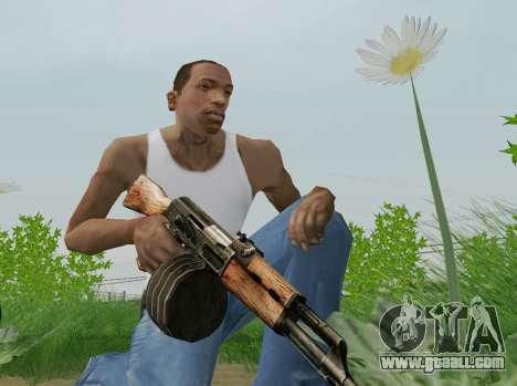 Kalashnikov Light Machine Gun for GTA San Andreas fifth screenshot