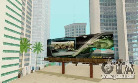 New high-quality advertising on posters for GTA San Andreas tenth screenshot