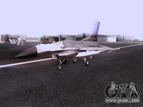 F-16 A for GTA San Andreas right view