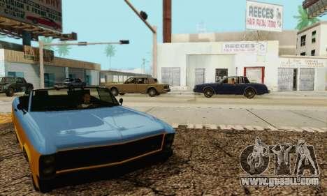 Gta 5 Buccaneer updated for GTA San Andreas side view