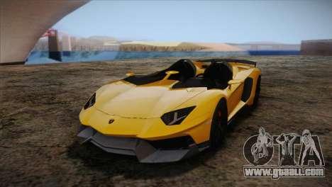 Lamborghini Aventandor J 2010 for GTA San Andreas inner view