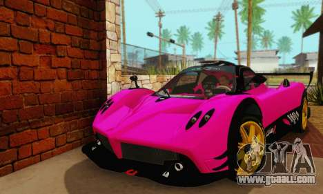 Pagani Zonda Type R Pink for GTA San Andreas right view