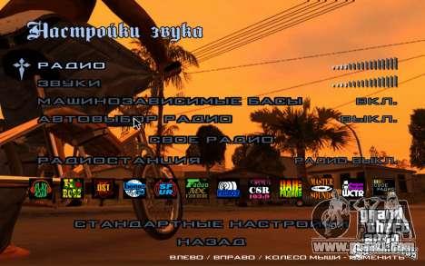 HD menus for GTA San Andreas forth screenshot
