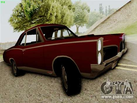 Pontiac GTO 1967 for GTA San Andreas left view