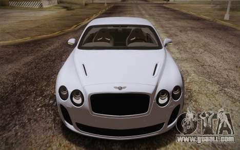 Bentley Continental SuperSports 2010 v2 Finale for GTA San Andreas inner view