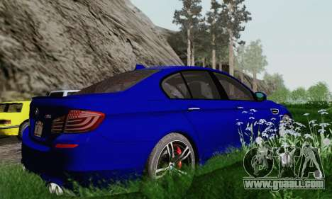 BMW F10 M5 2012 Stock for GTA San Andreas upper view