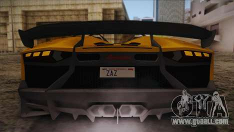 Lamborghini Aventandor J 2010 for GTA San Andreas engine