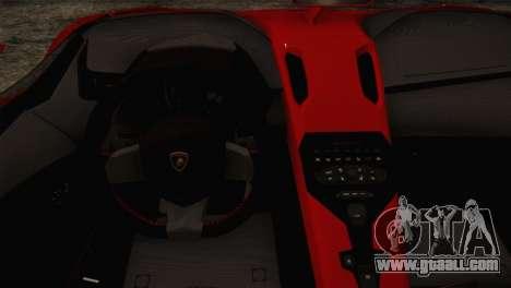 Lamborghini Aventandor J 2010 for GTA San Andreas back view