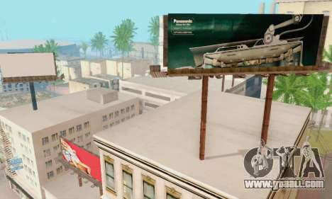 New high-quality advertising on posters for GTA San Andreas