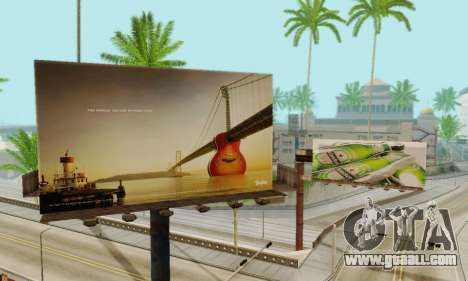New high-quality advertising on posters for GTA San Andreas seventh screenshot