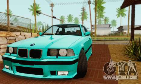 BMW E36 M3 1997 Stock for GTA San Andreas back view