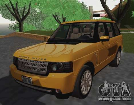 Range Rover Supercharged Series III for GTA San Andreas back left view