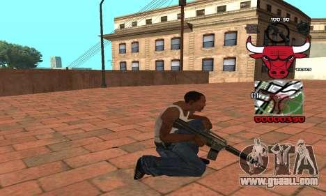 C-HUD Chicago Bulls for GTA San Andreas third screenshot