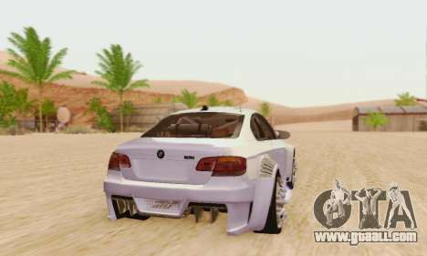 BMW M3 E92 SHD Tuning for GTA San Andreas back left view
