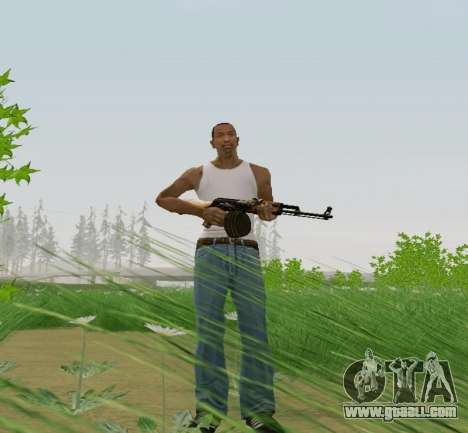 Kalashnikov Light Machine Gun for GTA San Andreas third screenshot