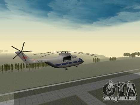 Mi 26 Civil for GTA San Andreas inner view