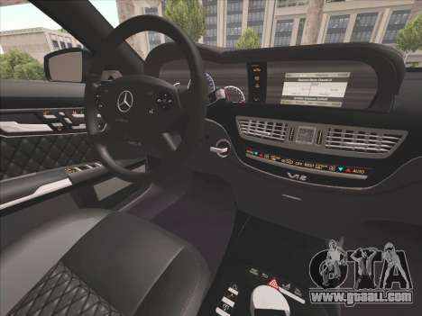Mercedes-Benz S65 AMG 2012 for GTA San Andreas inner view