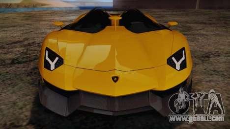 Lamborghini Aventandor J 2010 for GTA San Andreas interior