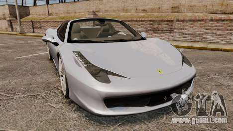 Ferrari 458 Spider for GTA 4