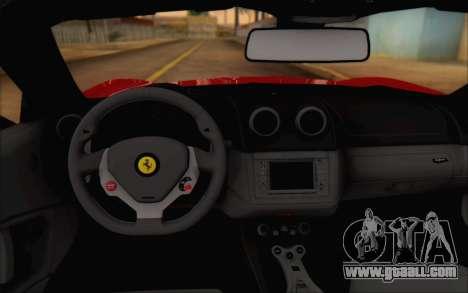 Ferrari California v2 for GTA San Andreas back view
