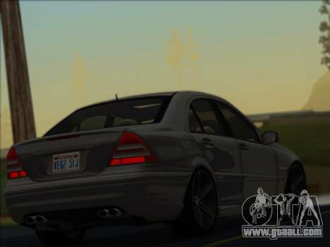 Mercedes-Benz C32 AMG Vossen V1.0 2004 for GTA San Andreas back left view