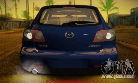 Mazda Axela Sport 2005 for GTA San Andreas inner view