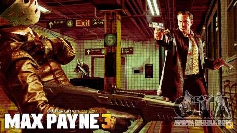 Boot screens Max Payne 3 HD for GTA San Andreas sixth screenshot