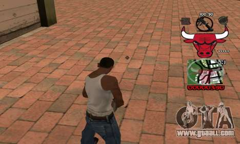 C-HUD Chicago Bulls for GTA San Andreas second screenshot